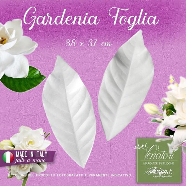 Venatore in silicone Gardenia - Foglia 8,8 x 3,7 cm ITA