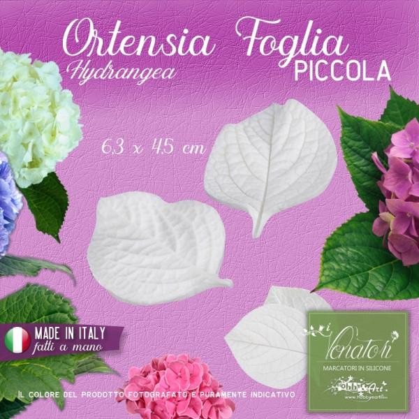 Venatore in silicone Ortensia - Foglia 6,3 x 4,5 cm ITA
