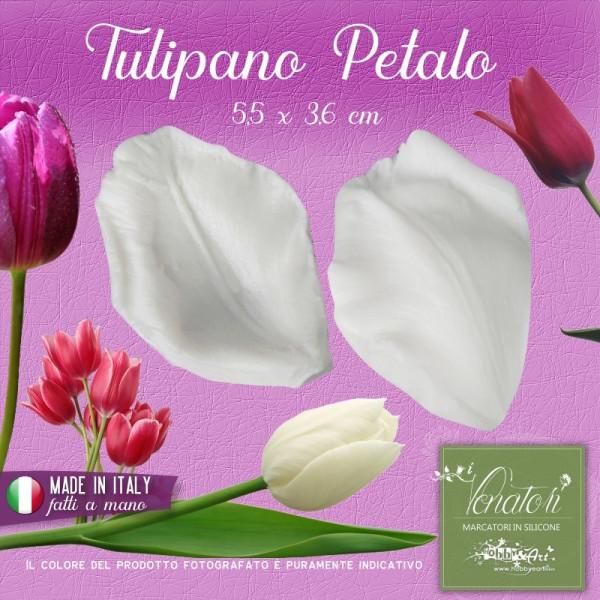 Venatore in silicone Tulipano Petalo 5,5 x 3,6 cm - ITA
