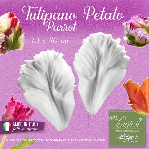 Venatore in silicone Tulipano Parrot - Petalo 7,3 x 4,0 cm - ITA