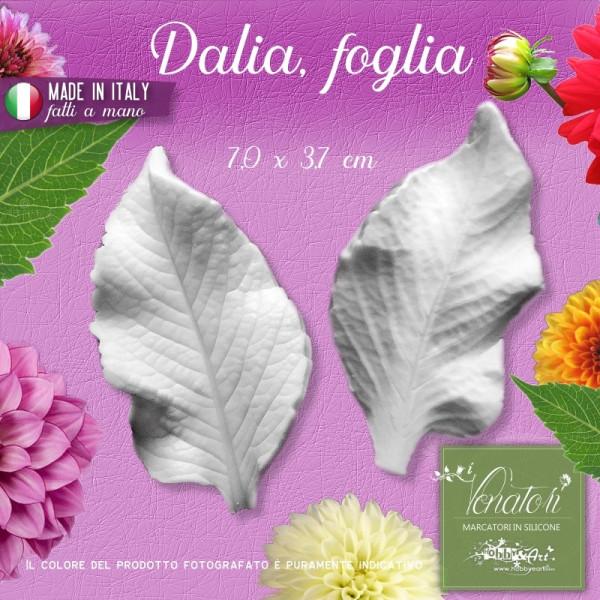 Venatore in silicone Dalia - Foglia 7,0 x 3,7 cm ITA
