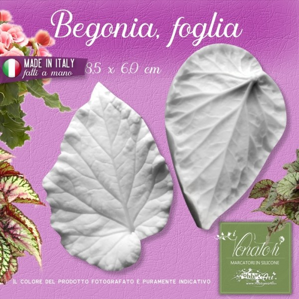 Venatore in silicone Begonia - Foglia 8,5 x 6,0 cm