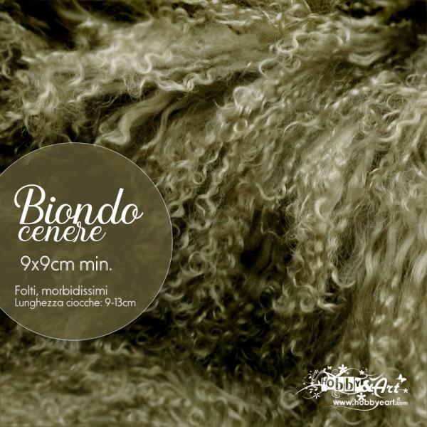 Capelli in lana tibetana - Biondo Cenere