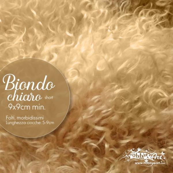 Capelli in lana tibetana - Biondo Chiaro short