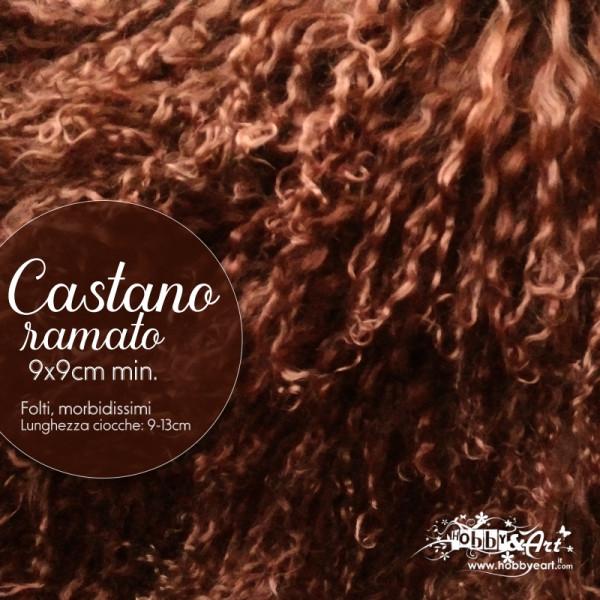 Capelli in lana tibetana - Castano Ramato