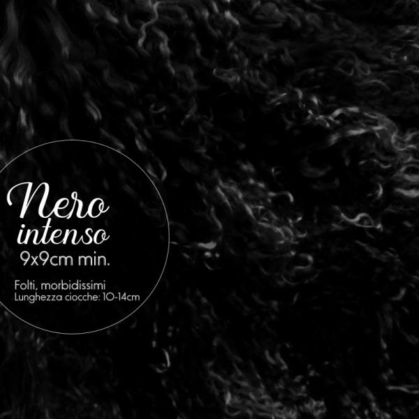 Capelli in lana tibetana - Nero intenso