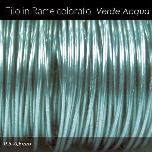 Filo di rame colorato - Verde acqua