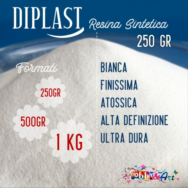 Diplast - Resina sintetica atossica per stampi e modellazione 250gr