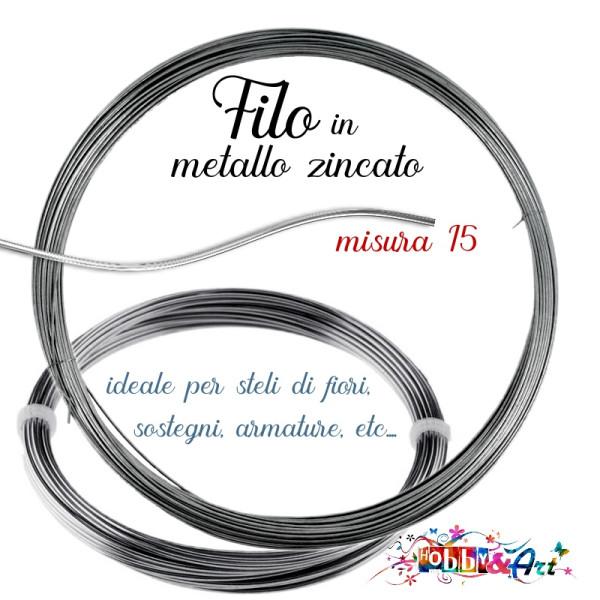 Filo metallico zincato - 1mt x 1,5mm
