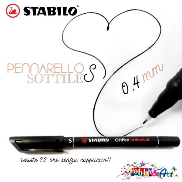 Pennarello STABILO nero, a punta Super Fine S