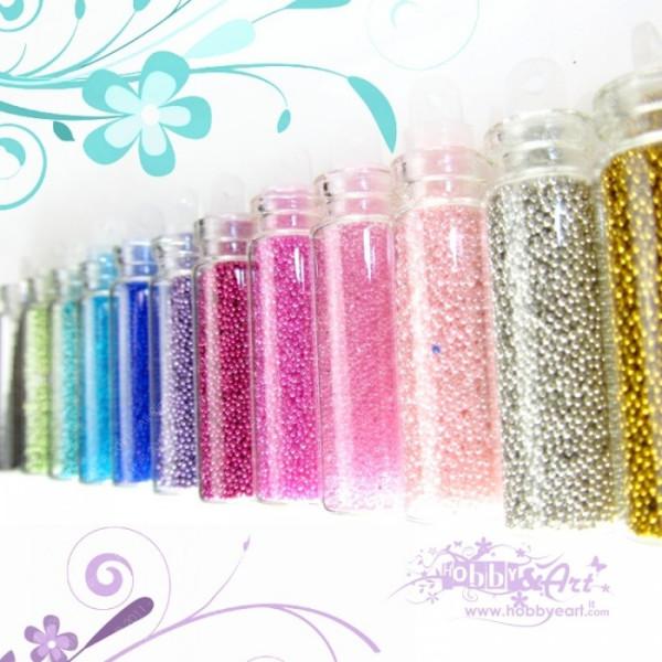 Microperle in bottiglina in 10 colori differenti