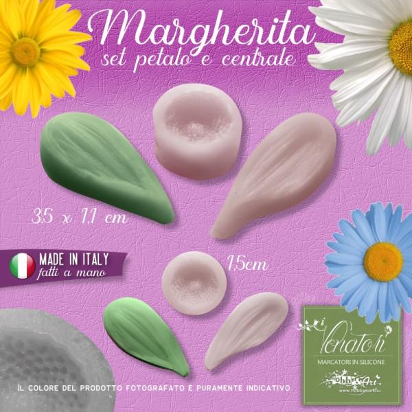 Venatore in silicone Margherita, petalo + centrale - ITA