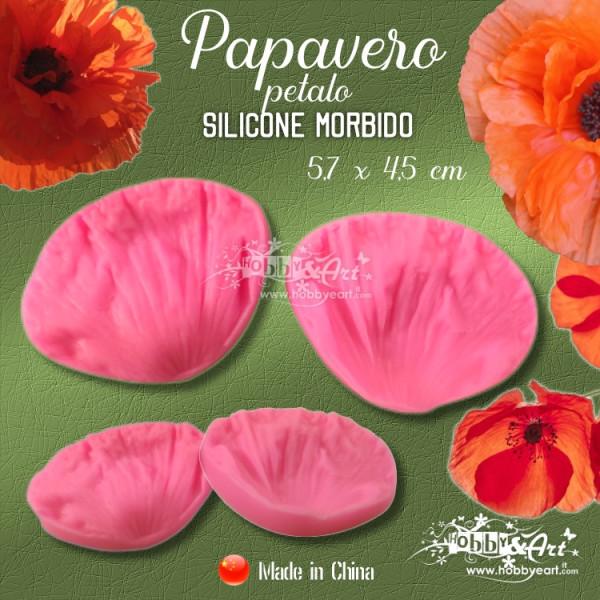 Venatore in silicone Papavero - Petalo 5,7 x 4,5 cm CINA
