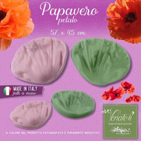 Venatore in silicone Papavero - Petalo 5,7 x 4,5 cm ITA
