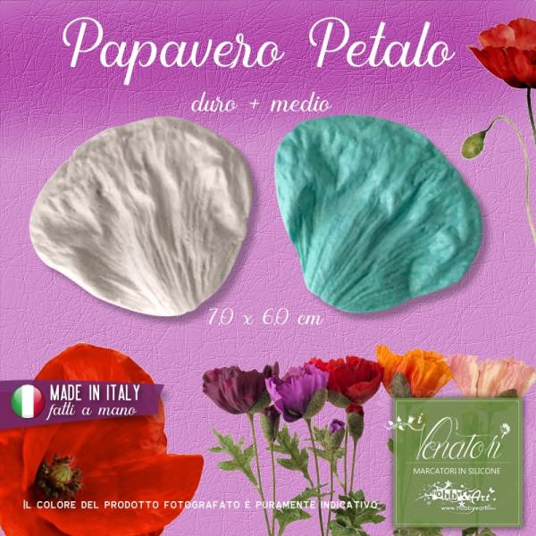 Venatore in silicone Papavero - Petalo 7,0 x 6,2 cm ITA