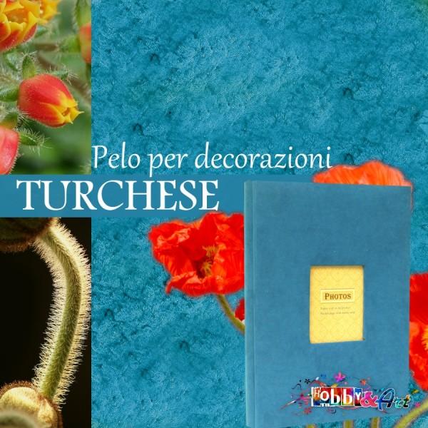 Pelo per rivestimento e decorazioni - Turchese