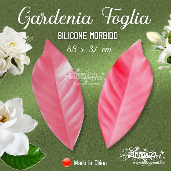 Venatore in silicone Gardenia - Foglia 8,8 x 3,7 cm CINA