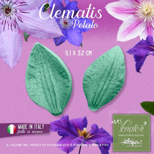 Venatore in silicone Clematis - petalo 5,1 x 3,2 cm ITA