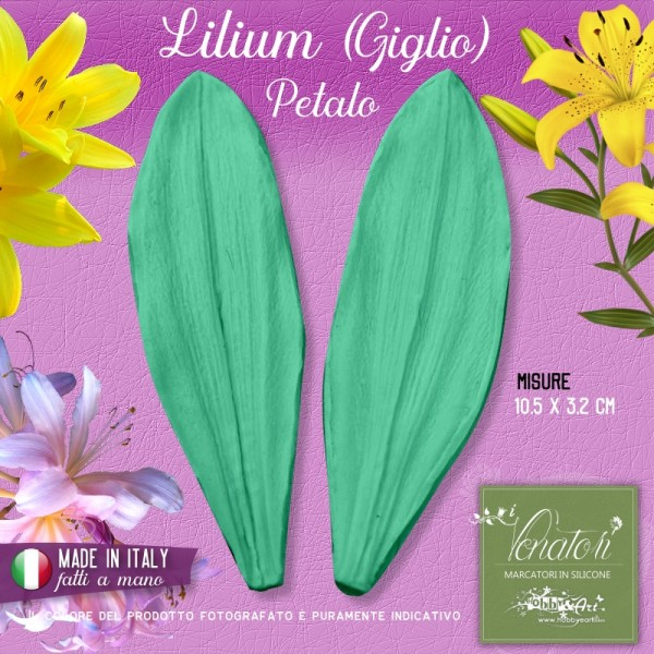 Venatore in silicone Lilium (giglio) - Petalo 10,5 x 3,2 cm ITA