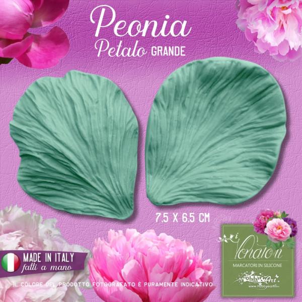 Venatore in silicone Peonia - Petalo 7,5 x 6,5 cm ITA