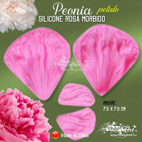 Venatore in silicone Peonia - petalo 7,5 x 7,0 cm CINA