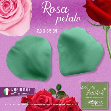 Venatore in silicone petalo di Rosa 7,0 x 6,5 cm ITA