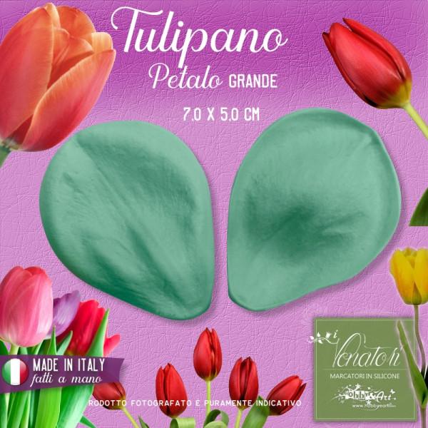 Venatore in silicone Tulipano - Petalo 7,0 x 5,0 cm ITA