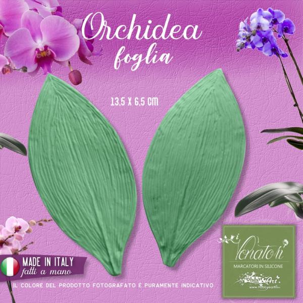 Venatore in silicone foglia di Orchidea Phalaenopsis - ITA