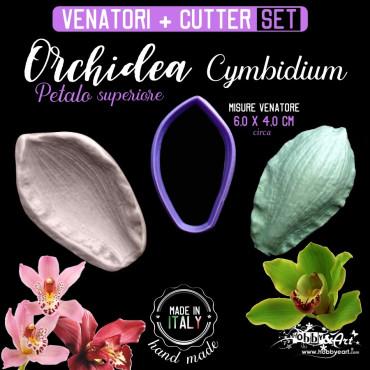 Venatore in silicone Orchidea Cymbidium petalo superiore + Cutter