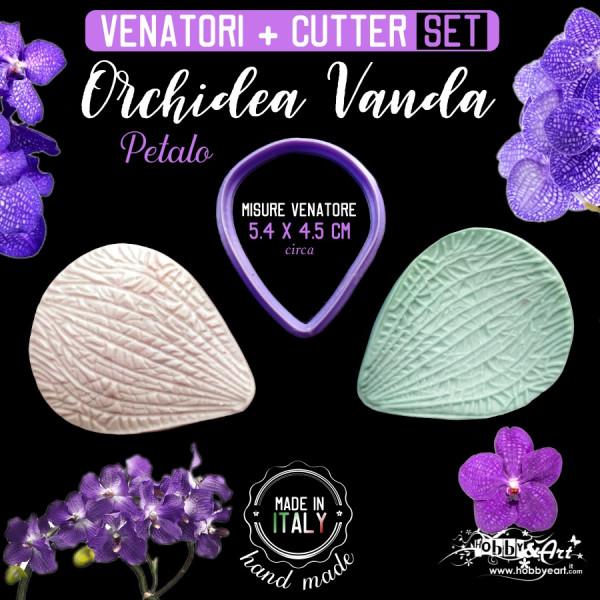 Venatore in silicone Orchidea Vanda petalo + Cutter