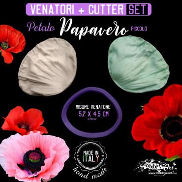 Venatore in silicone Papavero petalo + Cutter