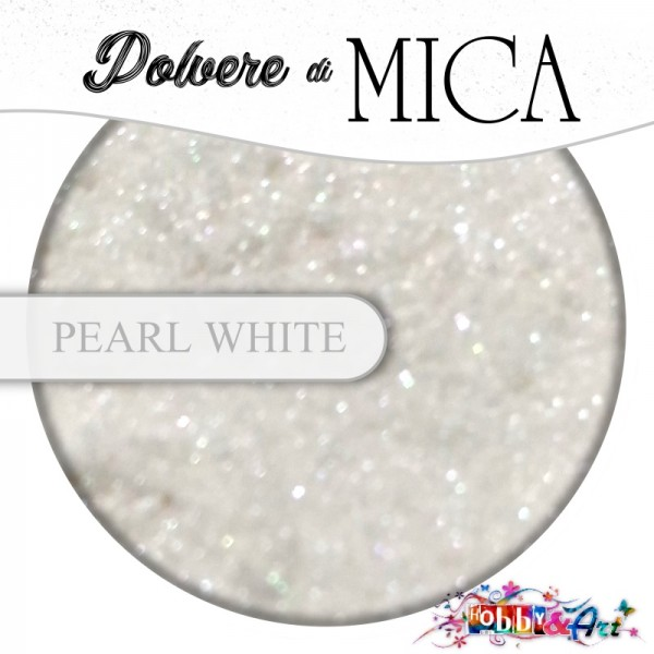 Pigmento in Polvere di Mica - PEARL WHITE