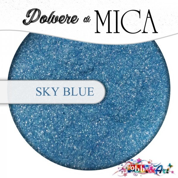 Pigmento in Polvere di Mica - SKY BLUE