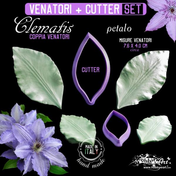 Venatore in silicone Clematis petalo + Cutter