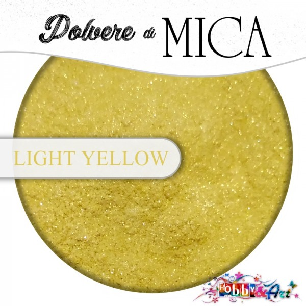 Pigmento in Polvere di Mica - LIGHT YELLOW