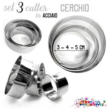 Cutter in metallo forma Cerchio 3pz