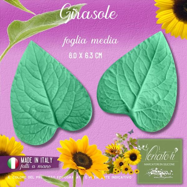 Venatore in silicone Girasole - Foglia media - ITA