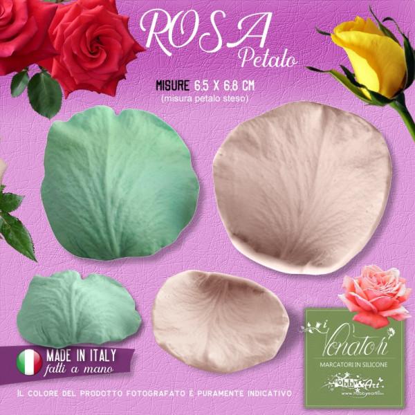 Venatore in silicone petalo di Rosa,  6,5 x 6,8 cm - ITA