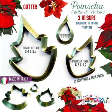 Cutter Poinsetia (stella di Natale) setB - 3 pezzi