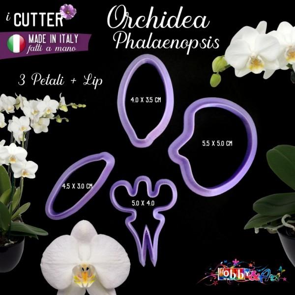 Cutter in plastica Orchidea Phalaenopsis - set 4 pezzi
