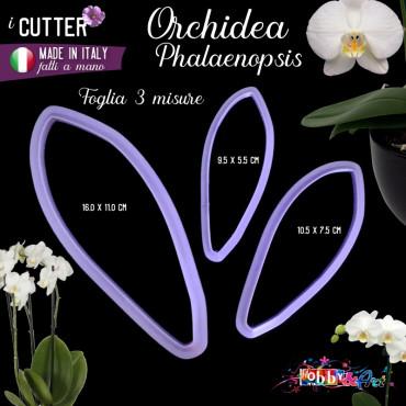 Cutter in plastica Orchidea Phalaenopsis foglie - set 3 pezzi