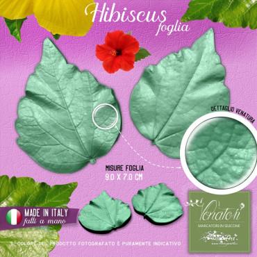 Venatore in silicone Hibiscus foglia grande - 9,0 x 7,0 cm ITA