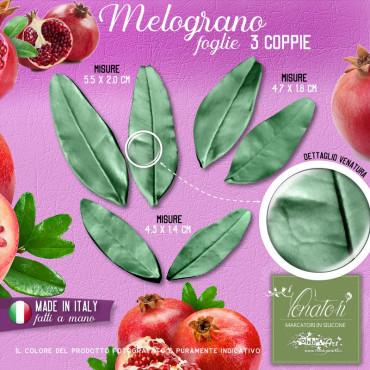 Venatore in silicone Melograno foglie 3 coppie, 3 misure - ITA