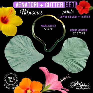 Venatore in silicone Hibiscus petalo 82x75 + Cutter 77x70