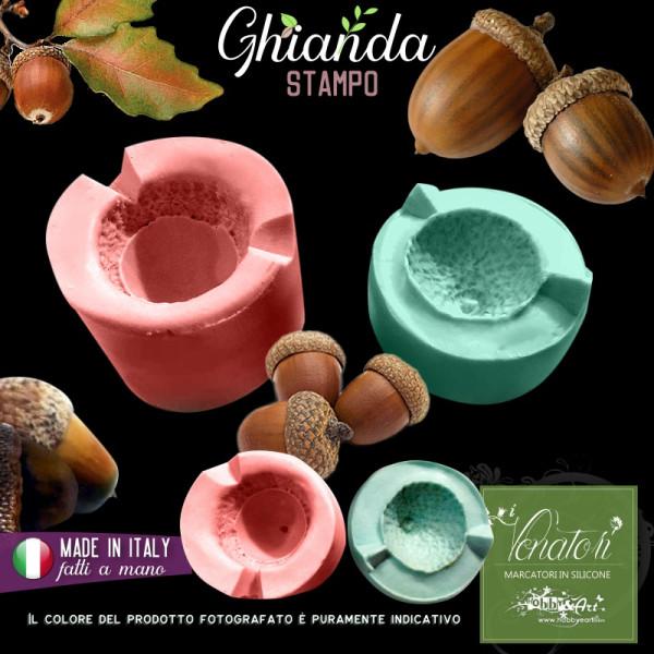 Stampo in silicone bivalva Ghianda