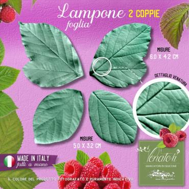 Venatore in silicone Lampone, 2 foglie 6,0 x 4,2 e 5,0 x 3,2 cm - ITA