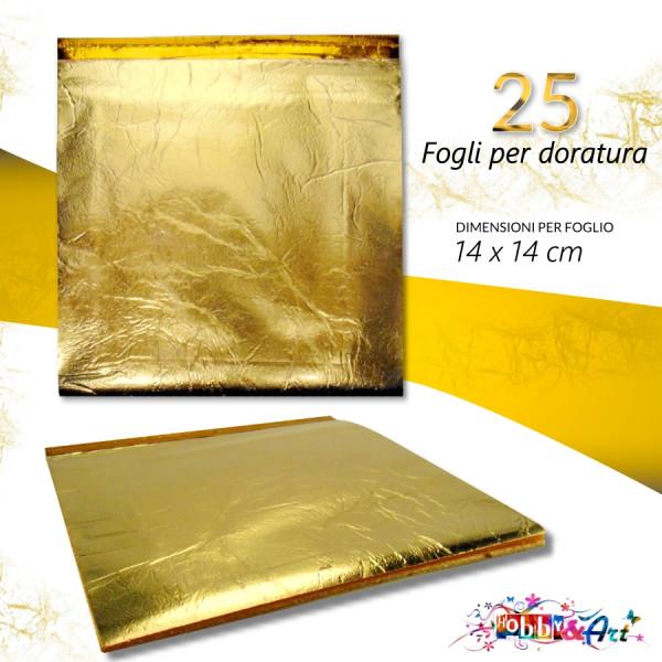 Fogli per doratura CWR 25 pezzi misura 14x14 cm