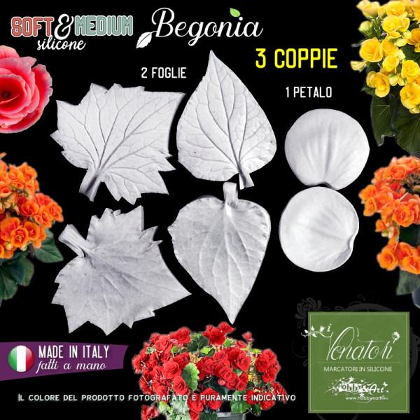 Venatore in silicone Begonia, Set 1 - Linea SM ITA