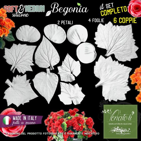 Venatore in silicone Begonia, Set completo - Linea SM ITA