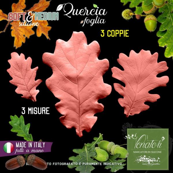 Venatore in silicone Quercia, set 3 foglie - Linea SM ITA
